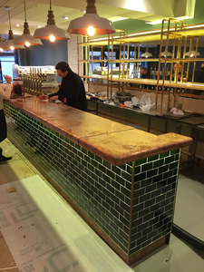 Copper Worktop - Brazz Restaurant Taunton