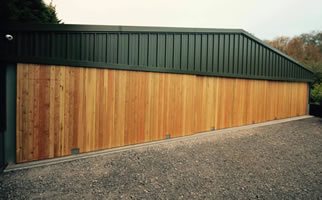Aluminium Framework for Large Garage Doors