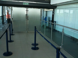 Display Boxes & Handrail, Bristol Airport