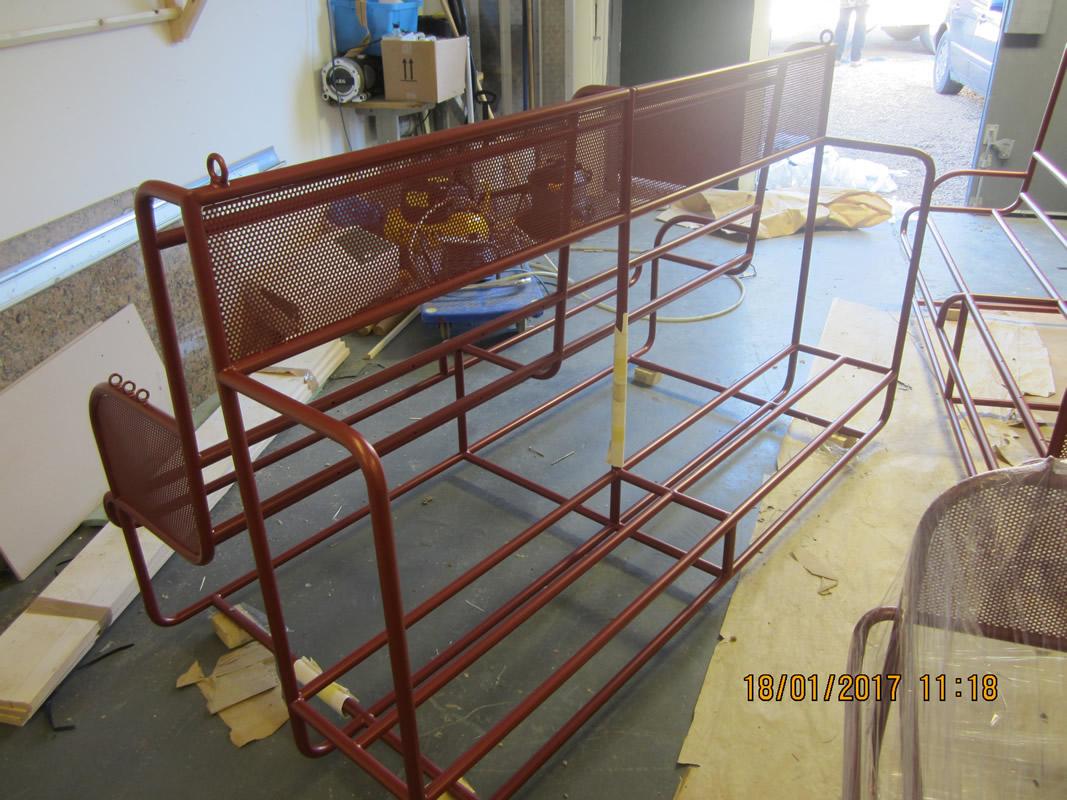 Powder Coated Mild Steel Seating - Nandos Bedford