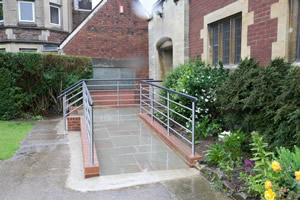 Stainless Steel and Black Powder Coated Handrail