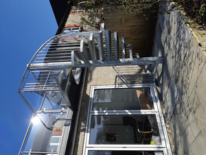 Mild Steel Galvanised Spiral Staircase with Stainless Steel Handrail