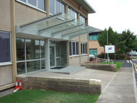Steel & Glass canopy for Jelf Group, Yate