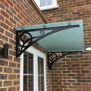 Bespoke Canopy Brackets - Stainless Steel<br>Available at <a href=http://www.glasscanopy.co.uk target=new class=lightboxlink>www.glasscanopy.co.uk</a>
