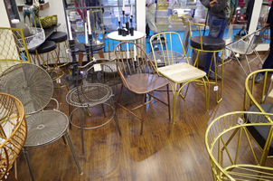 14 - Brass Chairs, Copper Chairs, Metal Chairs