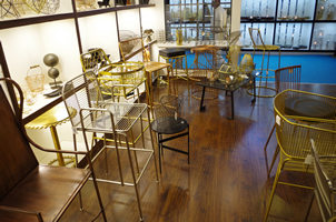 6 - Brass Chairs, Copper Chairs, Metal Chairs