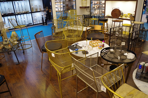 7 - Brass Chairs, Copper Chairs, Metal Chairs