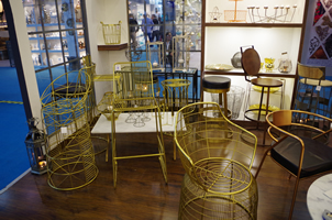 8 - Brass Chairs, Copper Chairs, Metal Chairs