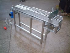 Stainless roller conveyor