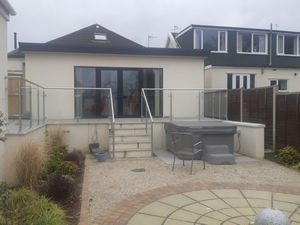 Stainless Steel and Glass Handrail