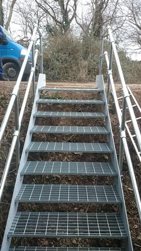 Galvanised Keyclamp Staircase - Hanham