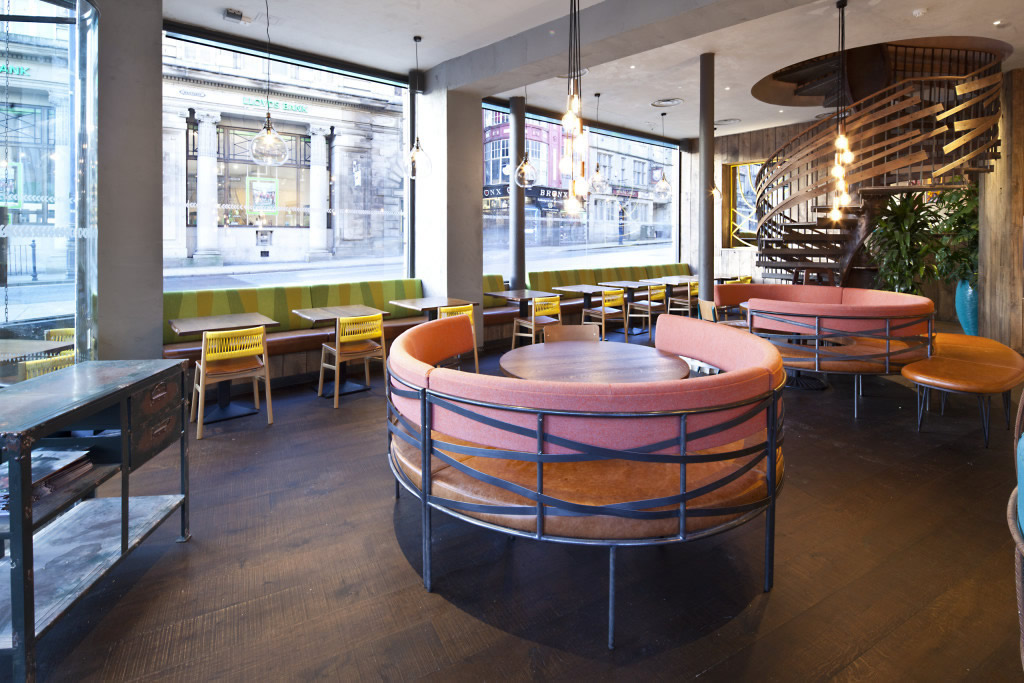 Mild Steel Seating - Nandos Huddersfield