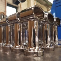 Mirror Polished Handrail Supports - Middles