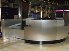 Information Desk at London Paddington Train Station