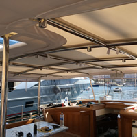 2 Mirror Polished 316 Stainless Steel Boat Bimini's, Handrail Brackets and Instrument Panels