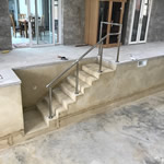 Swimming Pool Step Handrails