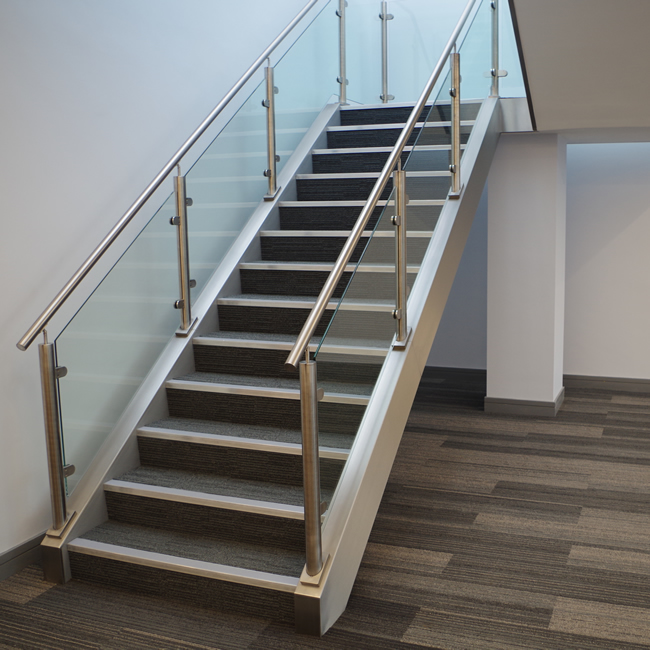 Fully bespoke Stainless Steel Handrail with Glass - Derbyshire