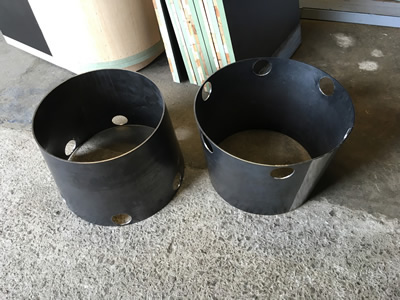 Rolled Mild Steel Cones with Holes