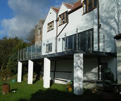 Steel Framework & Handrailing for New Build Balcony