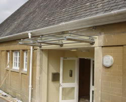 Stainless Steel Canopy at the Meeting Hall, Combe Down, Bath