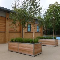 Stainless Steel Framed Planter - Bournmouth