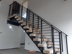 Mild Steel and American Oak Treads Staircase