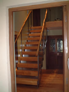 Stainless Steel Stairs with Wooden Handrail Capping - Dorchester