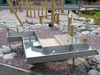 Stainless Steel Water Rill for children's play area