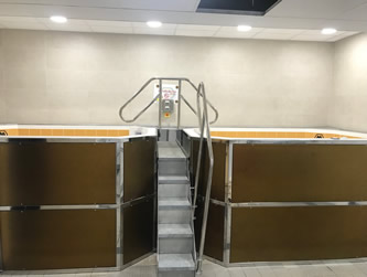 Mirror Polished Stainless Steel and Rimex Cladding with Staircase and Handrails - Wolves Football Club