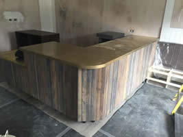 Brass Wrap Around Worktops